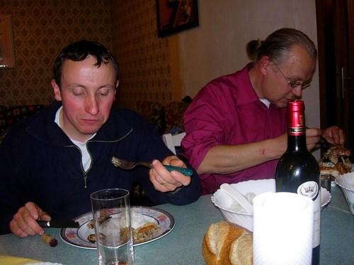 Stéphane Cousin (Pagnon en bisaya)(mari de Maret) et votre serviteur (Gourin, Morbihan)