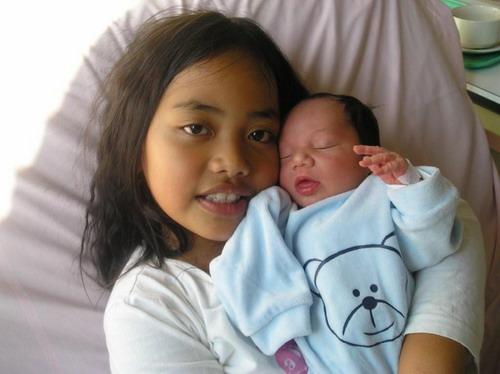 Laylay et son frère Yohann Cousin